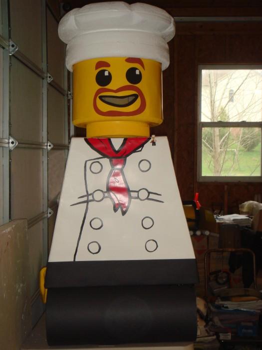 LEGO Costume   Minifigure Costume Minifigure Minifig LEGOGuys Lego Man LEGO Costumes LEGO Halloween Chef BlockGuys