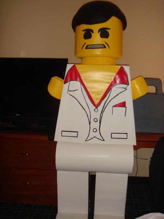 LEGO Costume   Mobster Minifigure Costume Minifigure Minifig LEGOGuys Lego Man LEGO Costumes LEGO Halloween BlockGuys