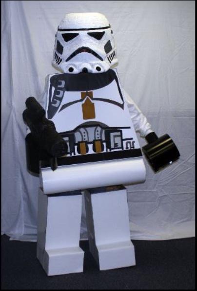 LEGO Costume   Storm Trooper Star Wars LEGOGuys lego man costume LEGO Costumes LEGO COSTUME LEGO BlockGuys